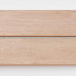 Dřevěná fasáda DARK RED MERANTI, raute profil 20x90 mm