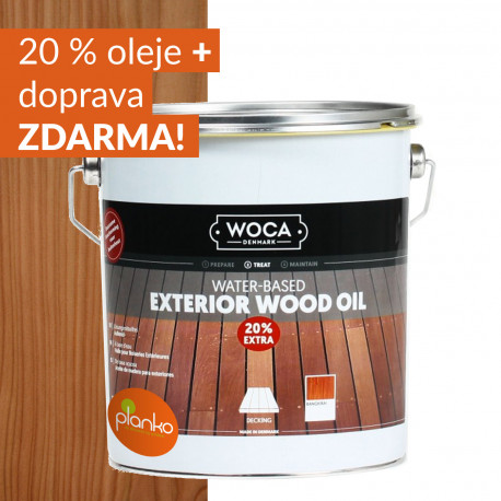 WOCA Exteriérový olej na dřevěné terasy akce 20% ZDARMA!