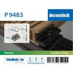 PVC spona 9483 pro WPC a dřevěné podkladové podkladní profily (100ks)