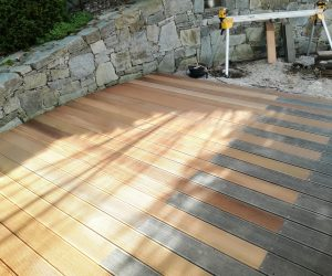 Dřevěná terasa Bangkirai, Brno Žebětín